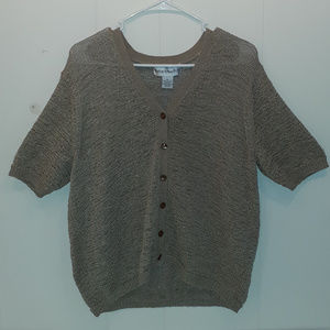 Norton McNaughton Knit Button Down  Sweater Shirt